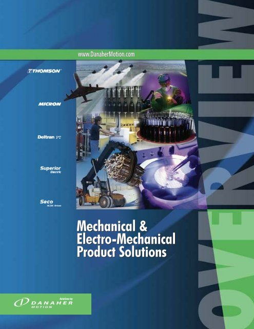 Mechanical & Electro-Mechanical Product Solutions Mechanical ...