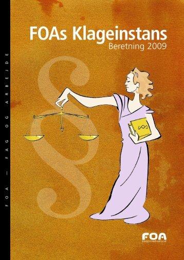 FOAs Klageinstans - Beretning 2009