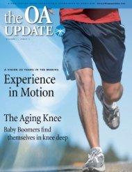 OA Update - Volume 1, Issue 1 (2.4 MB PDF File) - Orthopaedic ...