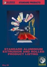 Standard Products - Ullrich Aluminium