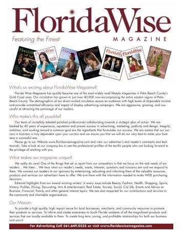 FloridaWise Magazine Media Kit [PDF]