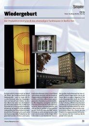 Wiedergeburt - Studio Magazin