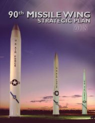 90th Missile Wing - FE Warren Air Force Base