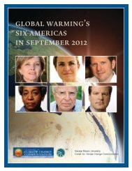 global warming's six americas in september 2012 - Yale School of ...