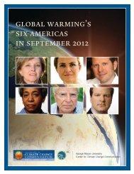 global warming's six americas in september 2012 - Yale School of ...