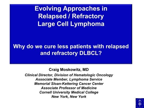 Evolving Approaches in Relapsed / Refractory Large Cell Lymphoma