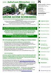 GRÜNE ACHSE SCHWABING - Ackermannbogen