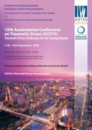 15th Australasian Conference on Traumatic Stress (ACOTS)