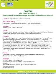 Den Fasern auf der Spur Faserpflanzen als nach - Universität Kassel