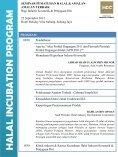 halal incuba tion prog ram - Halal Industry Development Corporation - Page 2