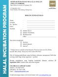 halal incuba tion prog ram - Halal Industry Development Corporation - Page 3