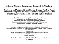 Climate Change Adaptation Research in Thailand - auedm