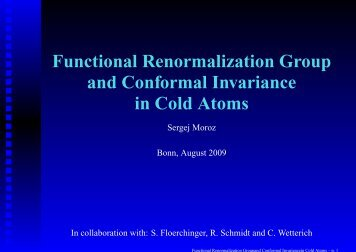Functional Renormalization Group and Conformal Invariance in ...