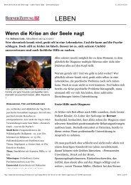Artikel von der Berner Zeitung vom 9.10.10. zum Herunterladen!