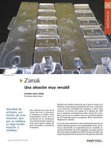 materiales Zamak.indd - Revista Metal Actual