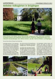 Beliebte Volksgärten in Brüglingen - Birseck Magazin