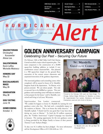 golden anniversary campaign - Marian Central Catholic High School