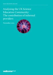 Analysing the UK Science Education Community ... - Wellcome Trust