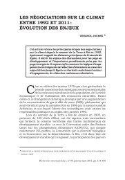 Les négociations sur Le cLimat entre 1992 et 2011 - Recherches ...