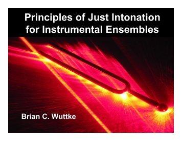 Principles of Just Intonation for Instrumental Ensembles - band4me