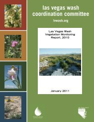 Vegetation Monitoring Report, 2010 - Las Vegas Wash Coordination ...