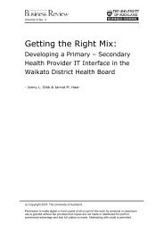 Getting the Right Mix: - University of Auckland Business Review