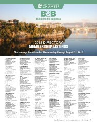 MEMBERSHIP LISTINGS - Chattanooga Area Chamber of Commerce