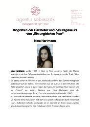 Biografien der Darsteller Biografien der Darsteller ... - by sobieszek.at