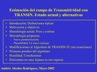 Estimación del campo de Transmisividad con TRANSIN. Estado ...
