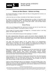 Neugier genügt, 24.08.2012 Service Garten - WDR 5