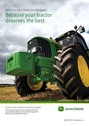 Genuine John Deere tractor parts - New Zealand