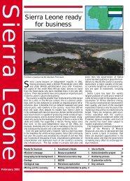 Sierra Leone ready for business - Cream Minerals Ltd.