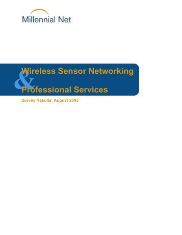 Wireless Sensor Networking Professional Services - Millennial Net