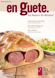 Herbstzeit – Zeit der «Metzgete - Schweizer Fleisch-Fachverband SFF