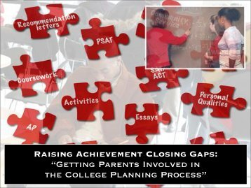 Getting Parents Involved in the College Planning Process - Ensuring ...