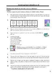 PROBLEME PROPUSE PENTRU CICLUL PRIMAR Clasa I 1. 2. 3. 4 ...