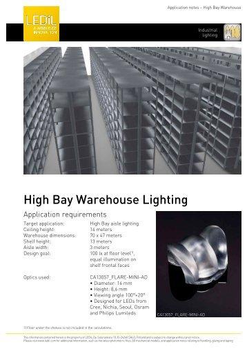 High Bay Warehouse Lighting - Ledil