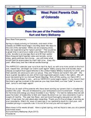 West Point Parents Club of Colorado - West-Point.ORG, The West ...