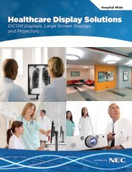 Healthcare Solutions Specification Brochure - NEC Display Solutions