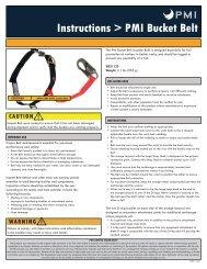 Instructions > PMI Bucket Belt - Rescue Response Gear