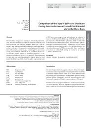 Comparison of the Type of Substrate Oxidation During ... - Free