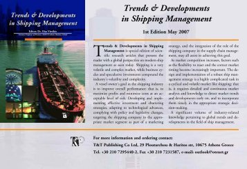 Trends & Developments in Shipping Management - Evi Plomaritou