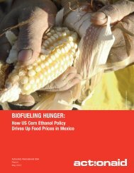Biofueling Hunger: - ActionAid