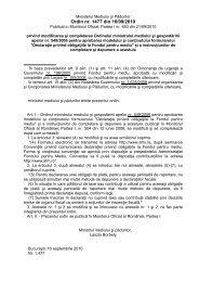 Ordin nr. 1477 din 16/09/2010 privind modificarea si completarea ...