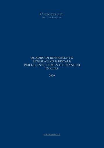 Guida Informativa Legale sulla Cina (Studio Legale Chiomenti