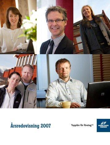Årsredovisning 2007 - Norrlandsfonden