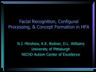 Facial Recognition, Configural Processing, & Concept Formation in ...