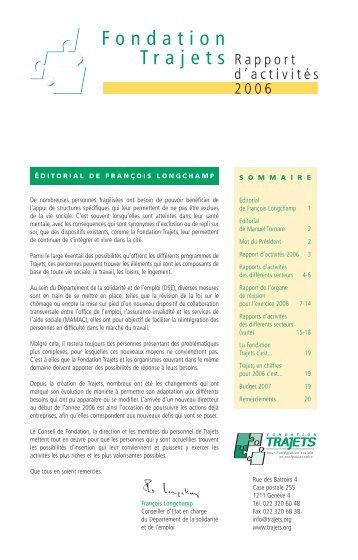 ÉDITORIAL DE FRANÇOIS LONGCHAMP De nombreuses - Trajets