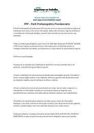 PPP – Perfil Profissiográfico Previdenciário