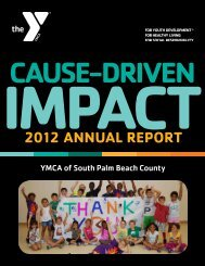 2012 ANNUAL REPORT - YMCA of South Palm Beach County